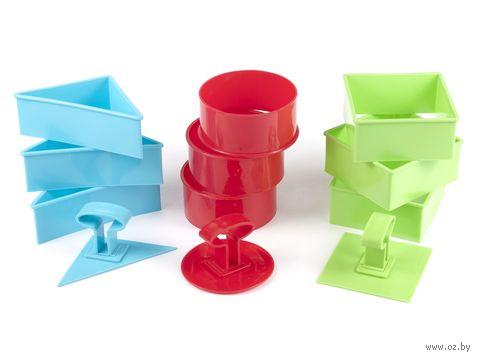 Набор форм для вырезания теста пластмассовых в ассортименте (3 шт.; 10х4,5 см)