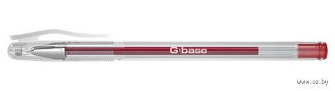 """Ручка гелевая красная """"G-base"""" (0,5 мм)"""