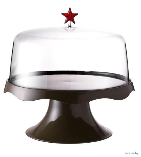 """Подставка для торта на ножке подарочная """"Merry Tray"""" (большая; коричневая)"""