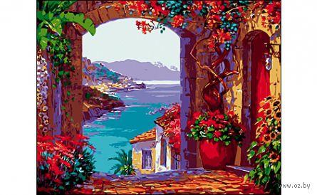 "Картина по номерам ""Романтичный вид на море"" (400x500 мм) — фото, картинка"