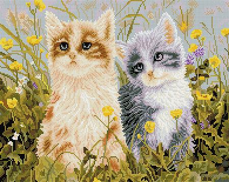 """Алмазная вышивка-мозаика """"Два друга"""" — фото, картинка"""