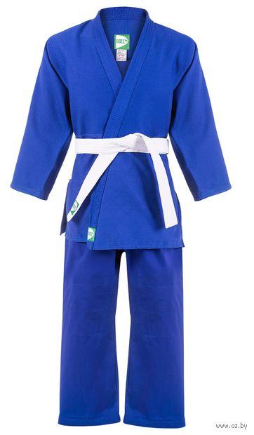 Кимоно для дзюдо MA-301 (р. 2/150; синее) — фото, картинка
