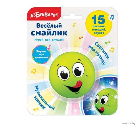 """Музыкальная игрушка """"Весёлый смайлик"""" (зелёный) — фото, картинка"""