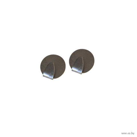 Крючок металлический на скотче (2 шт.; 35 мм)