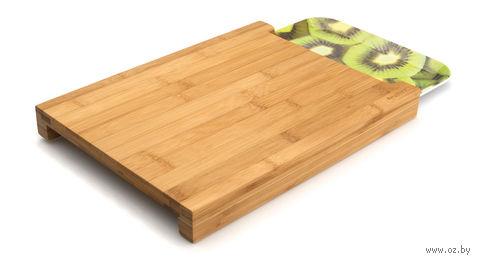 Доска разделочная бамбуковая с подносом (38х26х3,5 см)