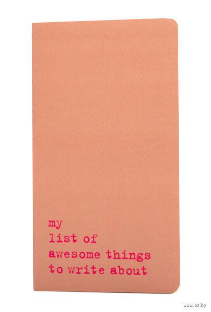 "Записная книжка Молескин ""Chapter. My List of Awesome Things"" в точку (большая; мягкая розовая обложка)"