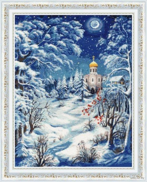 """Вышивка крестом """"Волшебница зима"""" (405х315 мм) — фото, картинка"""