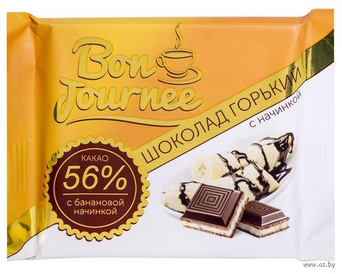 """Шоколад горький """"Bon Journee. С банановой начинкой"""" (80 г) — фото, картинка"""