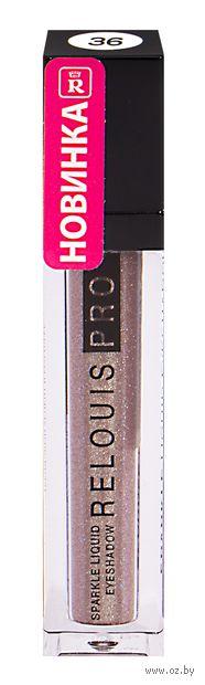 "Тени для век ""Relouis PRO. Sparkle Liquid Eyeshadow"" тон: 36, коричнево-бронзовый — фото, картинка"