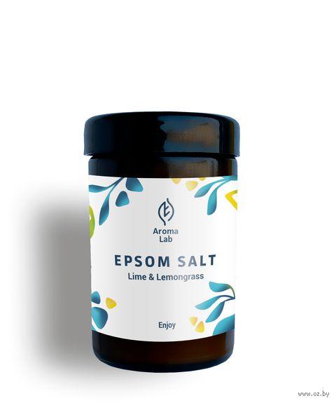 """Соль для ванн """"Enjoy. C эфирными маслами лайма и лемонграсса"""" (100 г) — фото, картинка"""