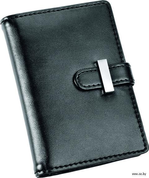 Футляр для визиток, кредитных или дисконтных карт (черный) — фото, картинка