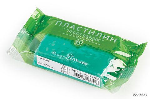 Пластилин особо мягкий кукурузный (40 г; зеленый) — фото, картинка