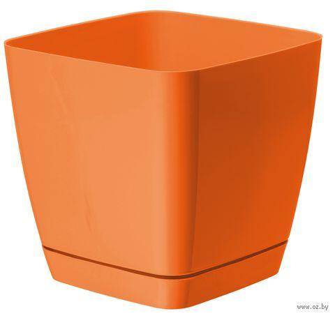 """Цветочный горшок """"Тоскана"""" (17х17х16,5 см; оранжевый) — фото, картинка"""