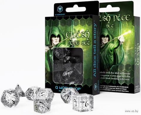 """Набор кубиков """"Elvish"""" (7 шт.; прозрачно-черный) — фото, картинка"""