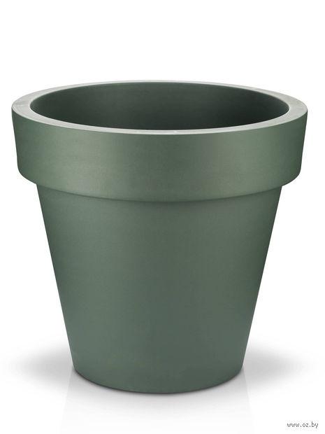 "Кашпо ""Fulya"" (19,5 см; темно-зеленое) — фото, картинка"