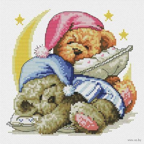 "Вышивка крестом ""Два медвежонка"" (400х400 мм) — фото, картинка"