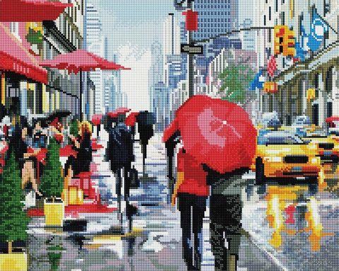 """Алмазная вышивка-мозаика """"Дождь в Нью-Йорке"""" (400х500 мм) — фото, картинка"""