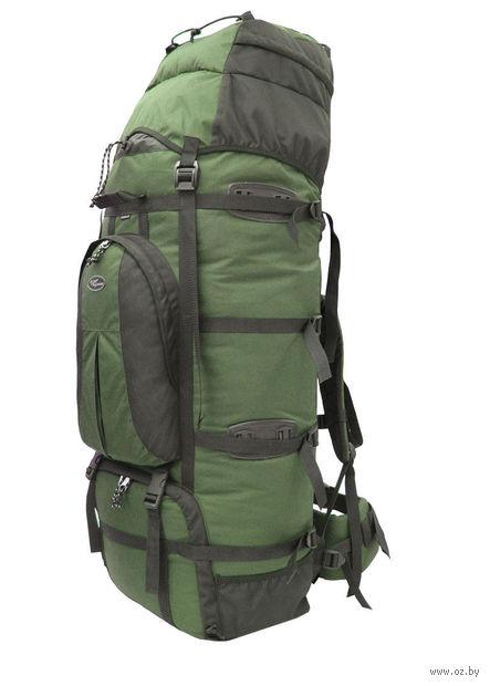 """Рюкзак """"Чаткал-110"""" (110 л; чёрно-зелёный) — фото, картинка"""