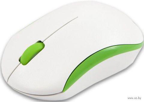 Беспроводная оптическая мышь Mediana WM-350 (white-green) — фото, картинка