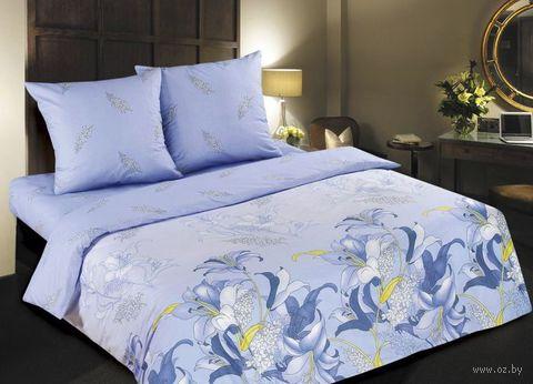 """Постельное белье """"Дикая орхидея. Синяя"""" (двуспальное) — фото, картинка"""