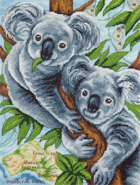 "Вышивка крестом ""Пушистые коалы"" (185х250 мм) — фото, картинка"
