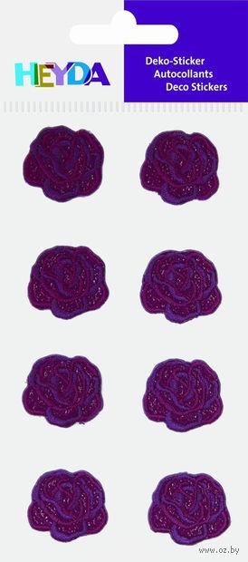 """Аппликация из ткани """"Красная роза"""" (7,5х16,5 см; бордовый; 8 шт.) — фото, картинка"""
