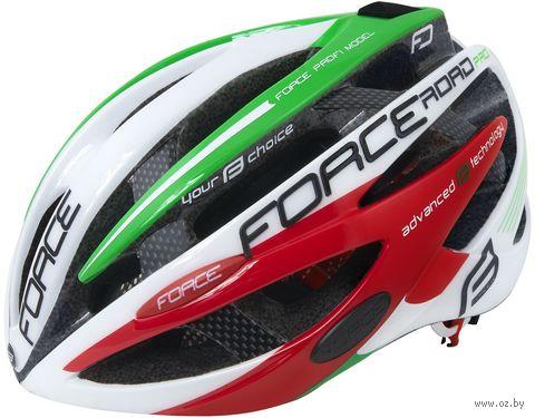 """Шлем велосипедный """"Road Pro Junior"""" (бело-зелёно-красный; р. XS-S) — фото, картинка"""