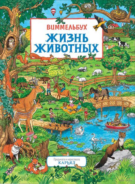 Жизнь животных. Виммельбух. Книжка-картинка — фото, картинка