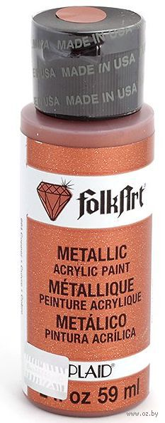 "Краска акриловая ""FolkArt. Metallic"" (медь, 59 мл; арт. PLD-00664)"