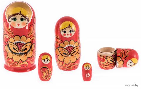 "Матрешка ""Хохлома красная"" (5 куколок)"