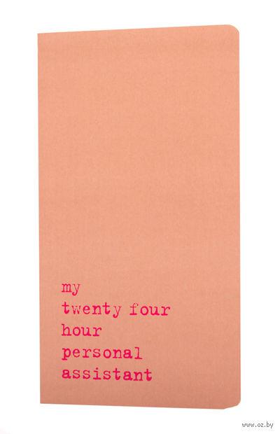 "Записная книжка в точку ""Chapter. My Twenty Four Hour"" (115х210 мм; розовая) — фото, картинка"