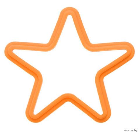 """Форма для выпекания силиконовая """"Звезда"""" (135x135 мм; оранжевая) — фото, картинка"""