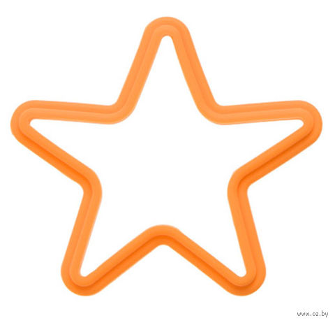 """Форма для выпекания силиконовая """"Звезда"""" (135x135 мм; оранжевый) — фото, картинка"""