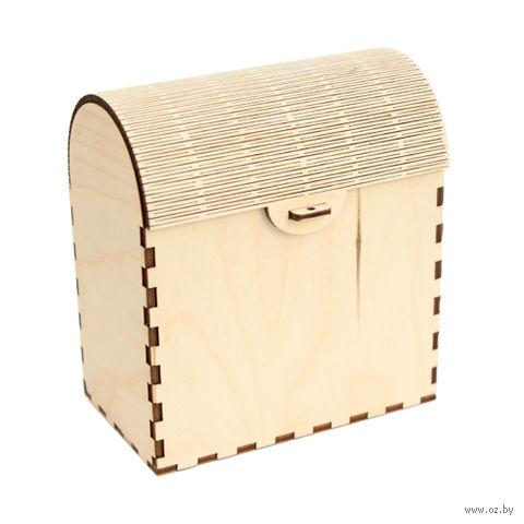 """Заготовка деревянная """"Шкатулка с гибкой крышкой"""" (130х120х70 мм)"""