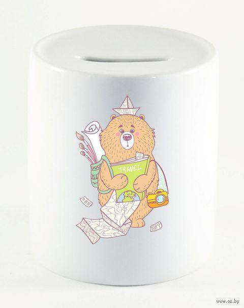 """Копилка """"Медведь путешественник"""" (922)"""