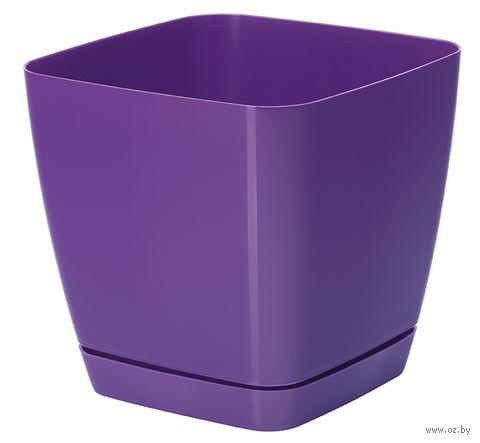 """Цветочный горшок """"Тоскана"""" (17х17х16,5 см; фиолетовый) — фото, картинка"""