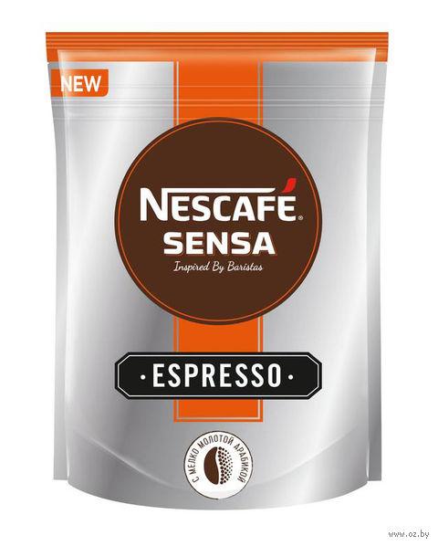 """Кофе растворимый с добавлением молотого """"Nescafe. Sensa. Espresso"""" (70 г) — фото, картинка"""