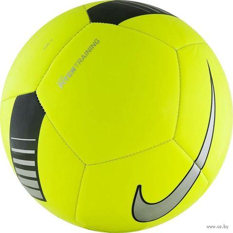 """Мяч футбольный Nike """"Pitch Training"""" №5 (зелёный) — фото, картинка"""