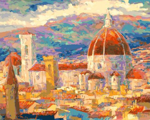 """Картина по номерам """"Дождь над Флоренцией"""" (400х500 мм)"""