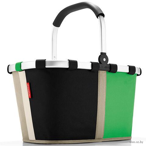 "Корзина ""Carrybag"" (patchwork green)"