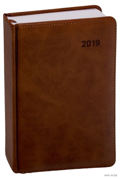 """Ежедневник датированный """"Vesper Index"""", 2017 (А5; 176 листов; коричневый)"""