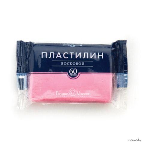Пластилин восковой (60 г; розовый) — фото, картинка
