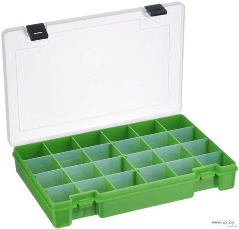 Органайзер для рукоделия (салатовый; 6-24 отделения) — фото, картинка