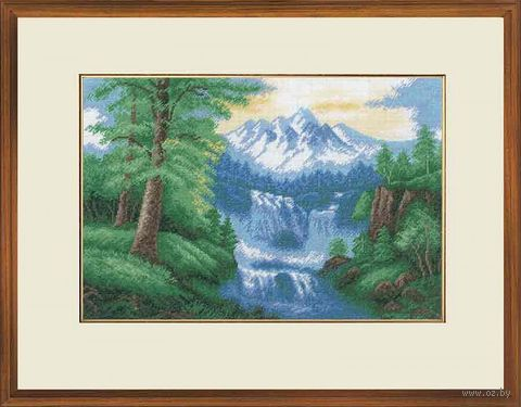 "Вышивка крестом ""Водопад"" (350х230 мм) — фото, картинка"