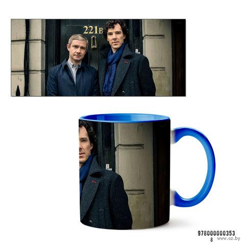 """Кружка """"Шерлок"""" (арт. 353, голубая)"""