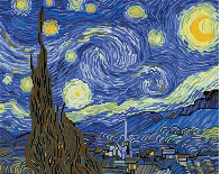 """Алмазная вышивка-мозаика """"Звездная ночь"""" — фото, картинка"""