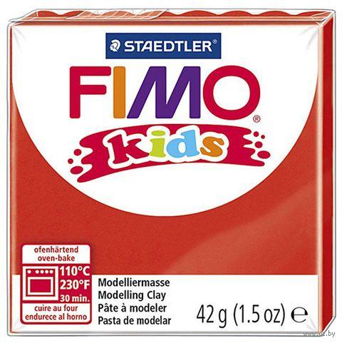 """Глина полимерная """"FIMO Kids"""" (красный; 42 г) — фото, картинка"""