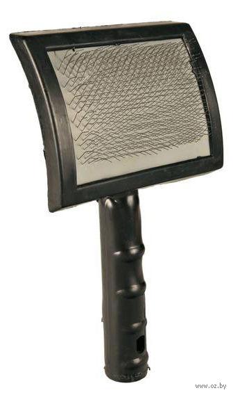 Мягкая щетка-пуходерка для ухода за шерстью (10х19 см) — фото, картинка