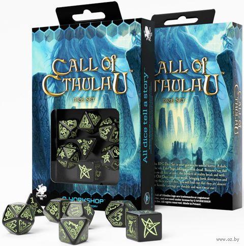 "Набор кубиков ""Call of Cthulhu"" (7 шт.; черный) — фото, картинка"
