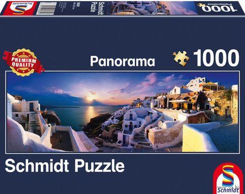 """Пазл """"Закат на Санторини"""" (1000 деталей) — фото, картинка"""